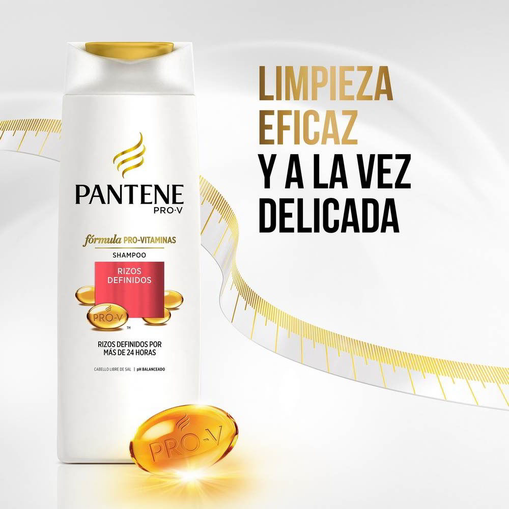 Shampoo Rizos Definidos Pro V Botella